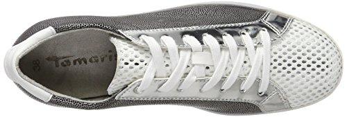 Tamaris Damen 23635 Sneaker Weiß (white Str Comb 192)