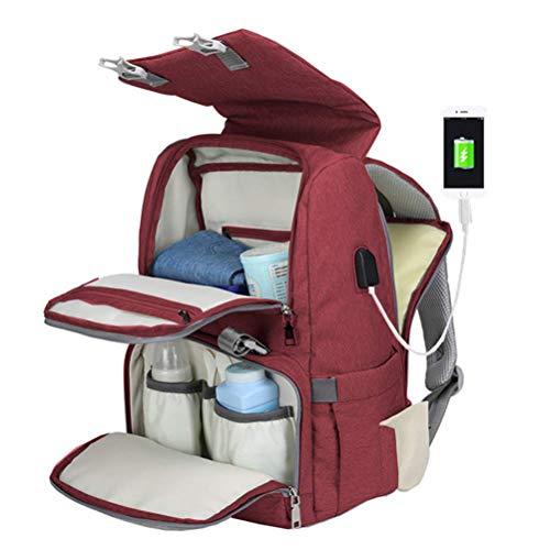 Phayee Wickeltasche Rucksack, Wickelrucksack Wickeltasche Babytasche,Wasserdicht,Große Kapazität für ausgehen,Multifunktional,Reiserucksack mit Wickelauflage für die Babypflege