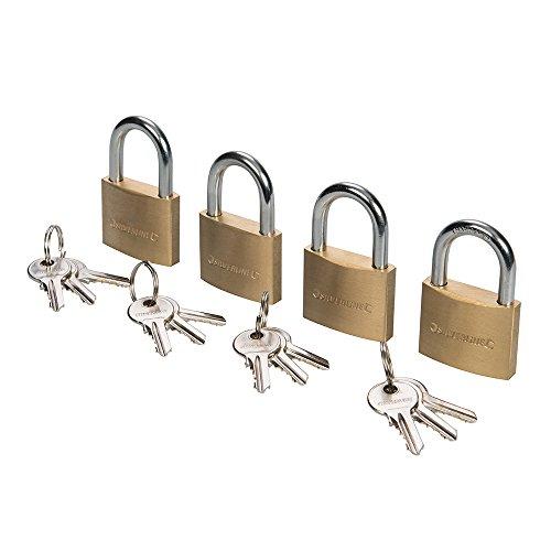 Silverline 675152 - Candados con una sola llave, 4 pzas (40 mm)