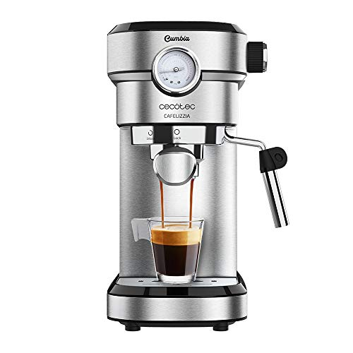 Cecotec Cafetera Express Cafelizzia 790 Steel Pro. Acero Inoxidable, Sistema Thermoblock, 20 Bares...