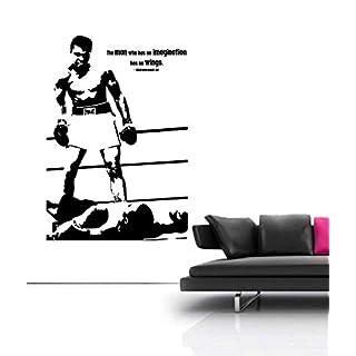 Boxing Muhammad Ali Legend Gym Studio Wall Art Bedroom Sticker Free Squeegee!