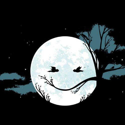 Smilin' Night - Herren T-Shirt von Kater Likoli Deep Black