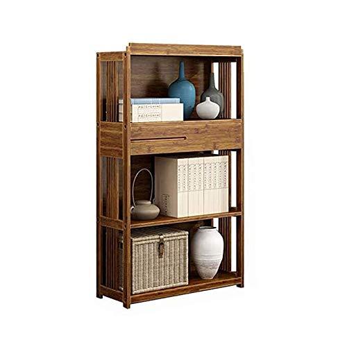 JJL Bücherregal, Bücherregal Industrial Style Holz Bücherregale Free Vintage Standing Storage Shelf Units (Size : 52CMX28CMX109CMX30CM) - Bücherregal Vintage Industrial