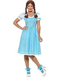 Smiffy's 47301L Kansas Country Girl Costume, Blue & White, L - UK size 16-18