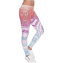 ZEARO Damen Bunte Sport Strumpfhose Leggings Workout Fitness Yoga Joggen Hose Mehrfarbig One size