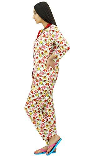 Bimba chemise avec chemise de nuit ensemble d'usure pantalon de pyjama de nuit Rouge
