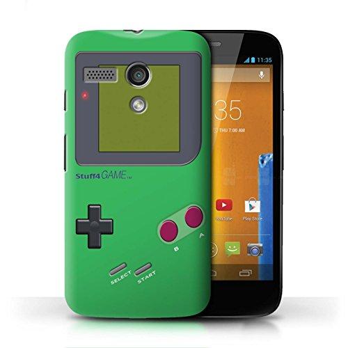 Stuff4® Hülle/Case für Motorola Moto G (2013) / Grün Muster/Videogamer/Gameboy Kollektion - Case Motorola Gameboy Moto G