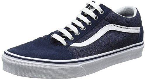 Vans Herren Old Skool Laufschuhe, Blau (Suede/Suiting), 42 EU, (Herstellergröße:9 US) (Suede Collection Trainer)