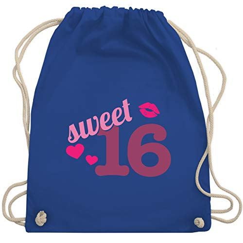 Geburtstag - Sweet 16 - Unisize - Royalblau - WM110 - Turnbeutel & Gym Bag