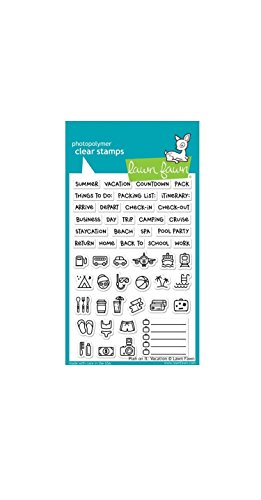 Lawn Fawn Plan On It Vacation Klar Stempel Lf1422