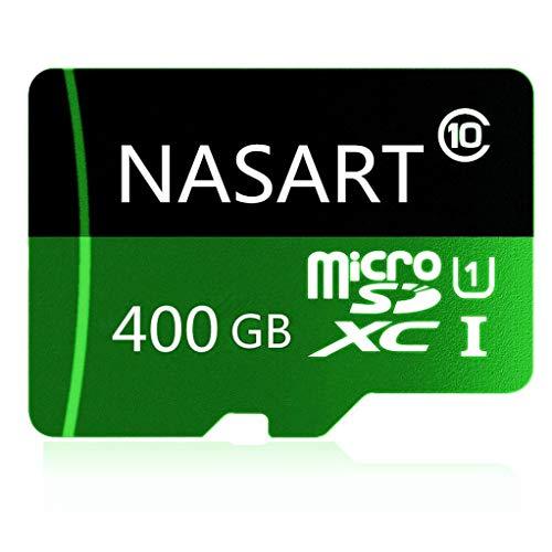Tarjeta de Memoria TF de 128 GB/256 GB/400 GB Micro SD SDXC, Tarjeta de Memoria de Alta Velocidad Clase 10 con Adaptador SD 400GB