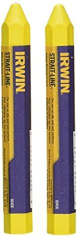 Irwin Strait-Line Crayons (card 2) Yellow 666062 - Mega Crayon