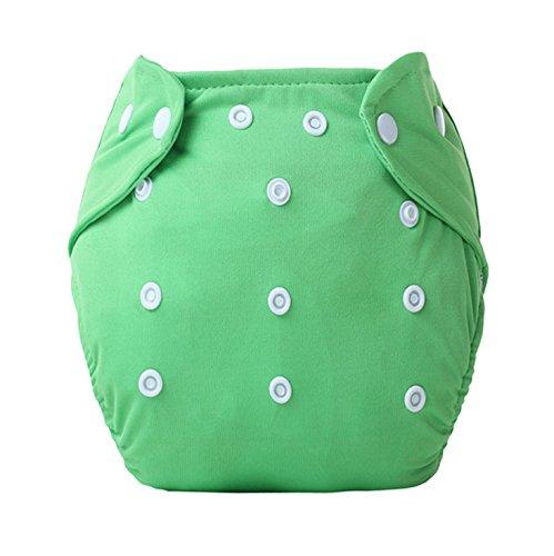 Kingken bequemer Verstellbarer wiederverwendbar Wasserdicht Windel Windel weichen Tuch Bezüge für Baby (grün)