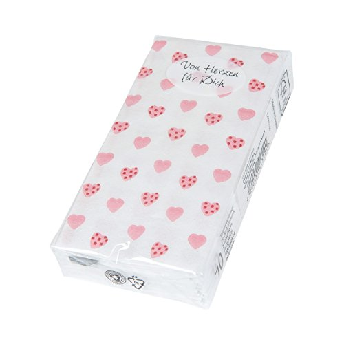 °* Papiertaschentücher, 10er-Pack, 4-lagig (von Herzen)
