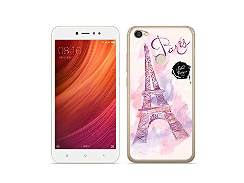 etuo Xiaomi Redmi Note 5A Prime - Hülle Fantastic Case - Rosa Eiffelturm - Handyhülle Schutzhülle Etui Case Cover Tasche für Handy