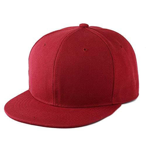 ZSGCCAP Gorra Hip Hop Gorra Plana Adulto Color Sólido Parcheado Sombrero De Béisbol Mujeres Y Hombres Gorra Lisa BD