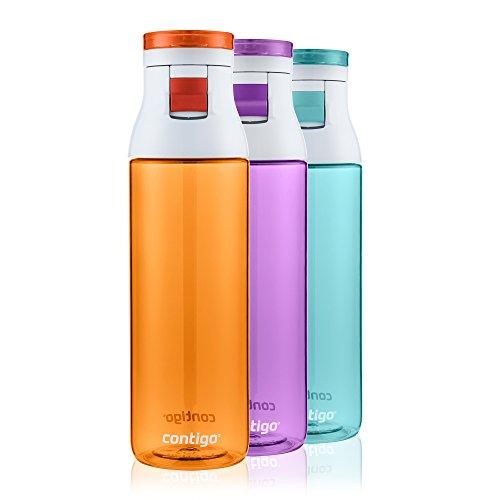 Contigo Jackson 24oz Water Bottle 3-Pack: Tangerine, Radiant Orchid, Grayed Jade (Jade Contigo)