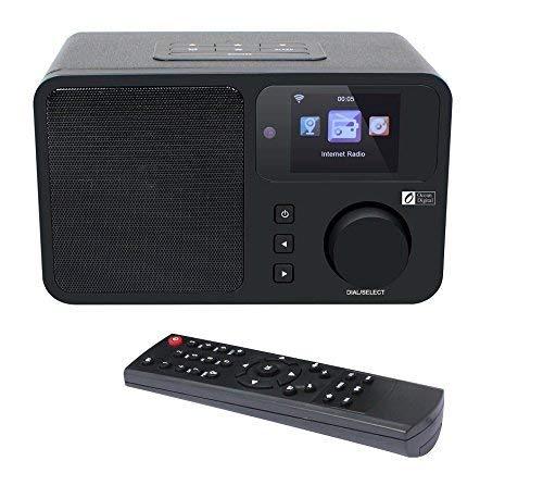 Ocean Digital WR233 Radio de Internet Wi-Fi WLAN Conexión inalámbrica Reproductor de Medios de música de Escritorio Pantalla de Color con Control Remoto