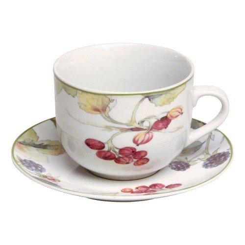 Tognana Set 2: Tazza e piattino, porcellana decorata