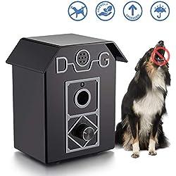 Kaiercat Dispositivo Antiladridos, Collar Ultrasónico Anti-Ladridos,Dispositivo para Controlar los Ladridos para el Exterior a Prueba de Agua, Seguro para Perros