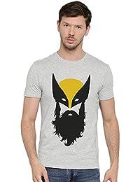 Beard Wolverine Superhero Printed Round Neck Graphic T Shirt For Men