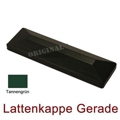 Bauer 114073, Lattenkappe gerade in Tannengrün für Bauer Kunststoff Zaun von Bauer-Systemtechnik GmbH bei Du und dein Garten