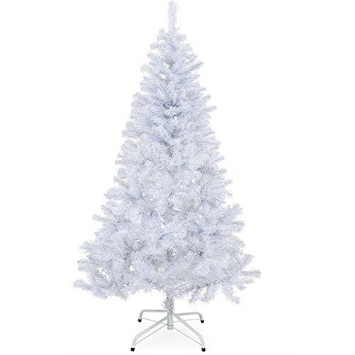 Deuba Albero di Natale con Supporto | 180 cm | 533 Punte | Bianco | Abete Artificiale folto
