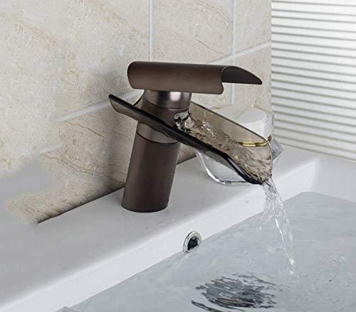 Decorry L04 Waschbecken Wasserfahrzeug Wasserhahn Öl Eingerieben Bronze Wasserfall Ein Loch Einzigen Handgriff-plattform Berg Waschtischarmatur Tap Wasserhahn