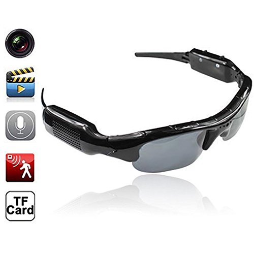 Ruimin 【Brille-Kamera HD Digital Sonnenbrille Brille DVR Video Recorder Versteckte Brillen Video Recorder Camcorder