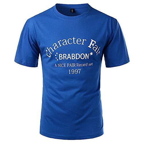 Xmiral tee, t-shirt uomo stretch slimtee, t-shirt uomo t-shirt divertente uomo maglietta maglia maglietta uomo t-shirt basic aderente l blu