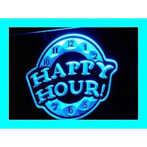 Cartel Luminoso ADV PRO i257-b HAPPY HOUR Beer Bar Pub Club NEW Neon Light Sign