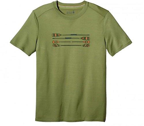 Smartwool Herren Men's Merino 150 Paddles and Oars Tee T-Shirt, Light Loden, M