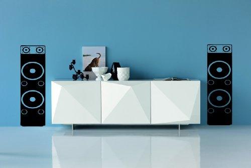 Preisvergleich Produktbild Wohnzimmer Schlafzimmer Lautsprecher Musik wall art Decals X 2 Vinyl Graphics weiß
