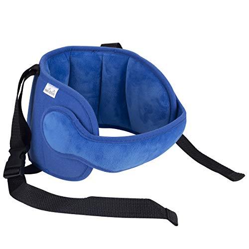Luchild Kleinkind Autositz Hals Relief und Kopf Unterstützung Verstellbare Reise Sitzgurte Abdeckung, Komfortable Safe Neck Relief Kopfschutz Gürtel für Kleinkind-Blau