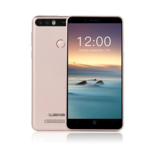 3G Smartphone Ohne Vertrag 5.0 Zoll HD IPS 4000mAh Quad Core Dual SIM+1 TF Slots 2GB RAM+16GB ROM 5MP & 8MP+5MP Dual Hintere Kameras Android 7.0 Fingerabdruck (Golden) (Schöne Billige Android-handys)