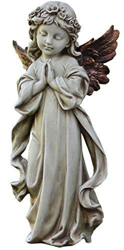 Napco 11231Engel betend mit Bronze Flügel Garten Statue, 31,8cm (Bronze Statue Engel)