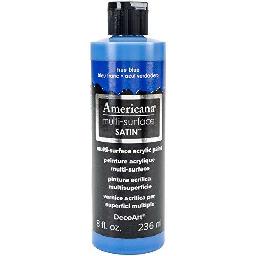 berflächen Satin Acryl 8oz True Blue, Acryl, mehrfarbig (True Blue Kit)