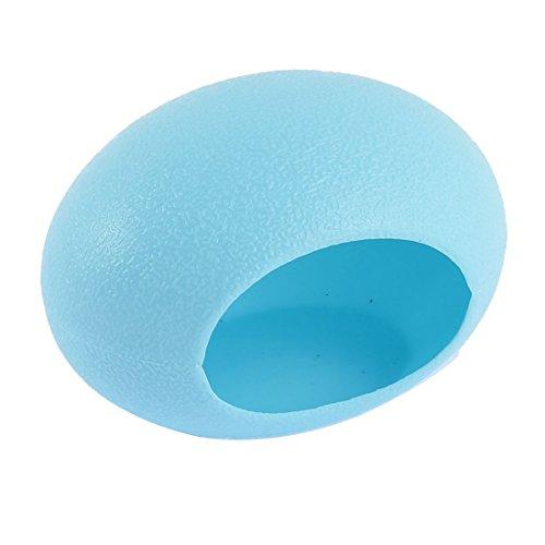 sourcingmap® Blau Kunststoff Mini Haustier Schlafzimmer Ei Nest Hütte Haus Warm Spielzeug