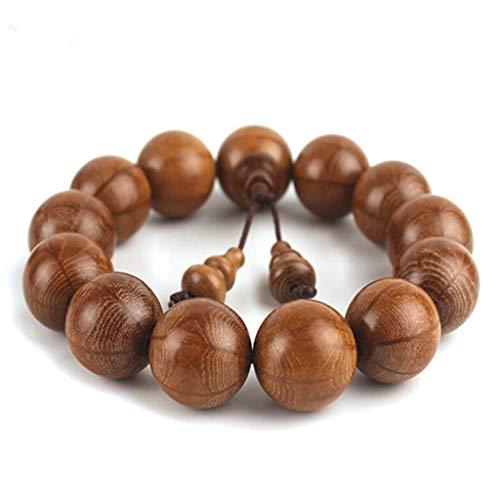 GGCL Buddhistisches Perlen Armband/Herren-und Frauen-Natur Rosenkranz,Brown,2.0Cm
