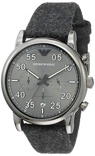 Emporio Armani Herren Analog Quarz Uhr mit Stoff Armband AR11154