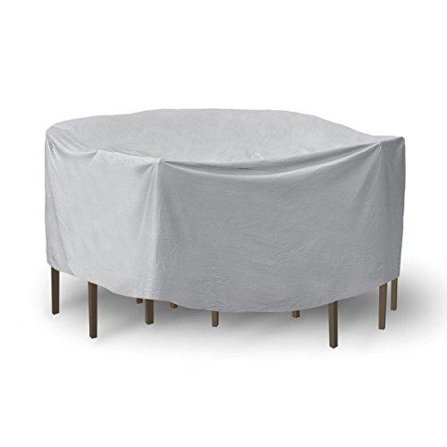 Housses de Protection pour Table et chaises de Patio - 121,9 x 137,2 cm - Table Ronde - Gris