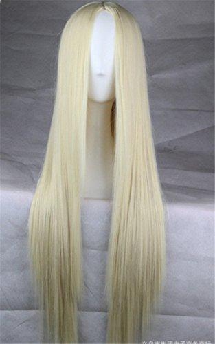 Perücken Blond Kostüm (Langhaar Glatte Perücke mit vorner Spitze Ombre Straight Spitze-Front-Perücke Cosplay Kostueme Frauen 75cm)