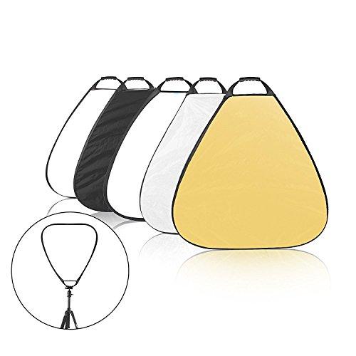 Selens 5 in1 80cm Fotografie Triangel Falt reflektor mit Handgriff und Tragetasche Weiß Schwarz Gold Silber Diffusor