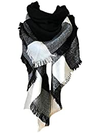 0ccf1e524538 heekpek Écharpe Chale Femme Cachemire Chaud Automne Hiver Grand Plaid Tissu  Glands Foulard