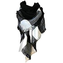 4e334027a30 heekpek Écharpe Chale Femme Cachemire Chaud Automne Hiver Grand Plaid Tissu  Glands Foulard