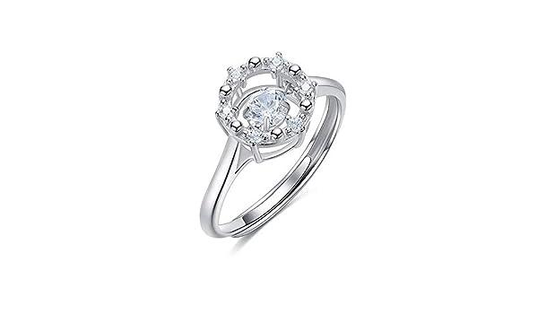 Daeou Open Ring Lady Ring Crown Diamond Opening Ring