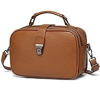 Crossbody Bag for Women, KASGO Vegan Handbag for Ladies Faux Leather Casual Crossbody Satchel Top Handle Bags Shoulder Bag with Detachable Adjustable Strap Brown