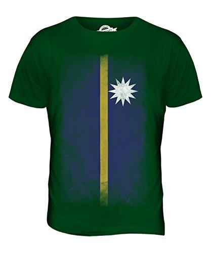 CandyMix Nauru Verblichen Flagge Herren T Shirt Flaschengrün