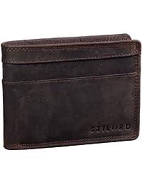 58ca008ebc STILORD 'Cooper' Portafoglio Blocca RFID Pelle Uomo Vintage Elegante Sicuro con  Portamonete Cuoio Sottile