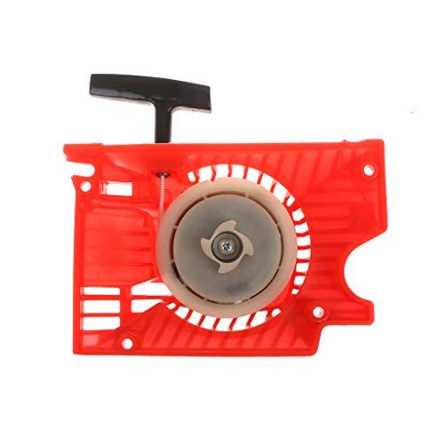 JOYKK Arrancador de Arranque de Retroceso único para la Motosierra China 4500 5200 5800 - Negro y Rojo...